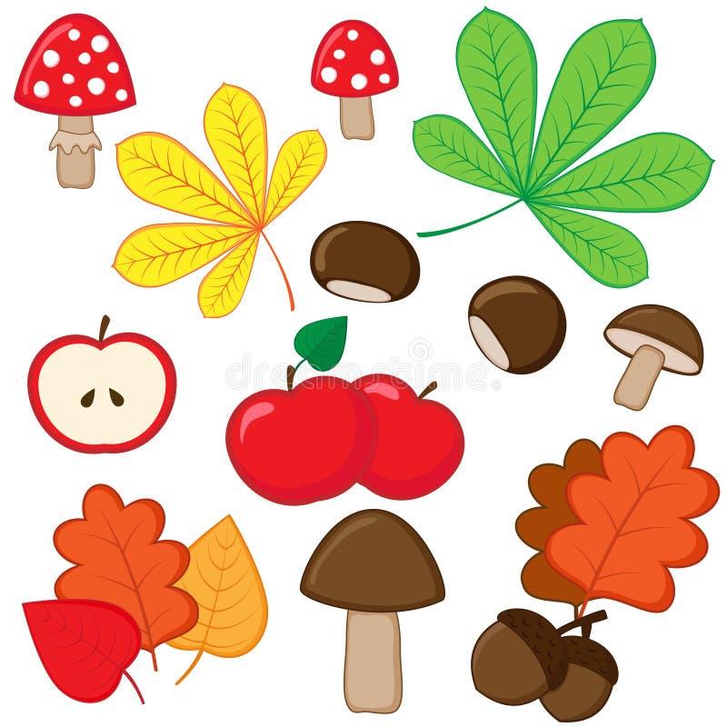 jesienny set ilustracji
