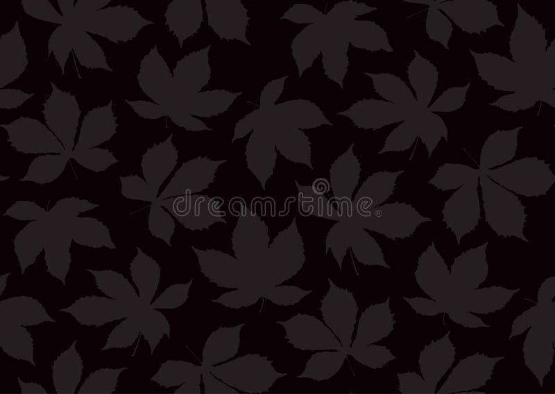 Jesiennych liści bezszwowy wzór Wektorowa ilustracja dla eleganckiego tła, tkanina, opakunkowego papieru projekt royalty ilustracja