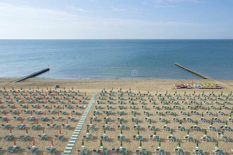 Jesolo beach. Part of Jesolo beach, along North Adriatic italian coastline royalty free stock photography