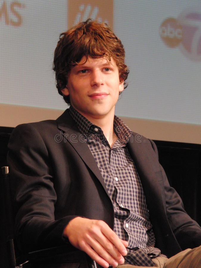 Jesse Eisenberg royalty free stock photo
