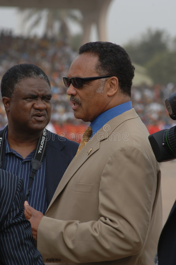 Download Jesse Jackson In Ghana Editorial Stock Photo - Image: 7561248