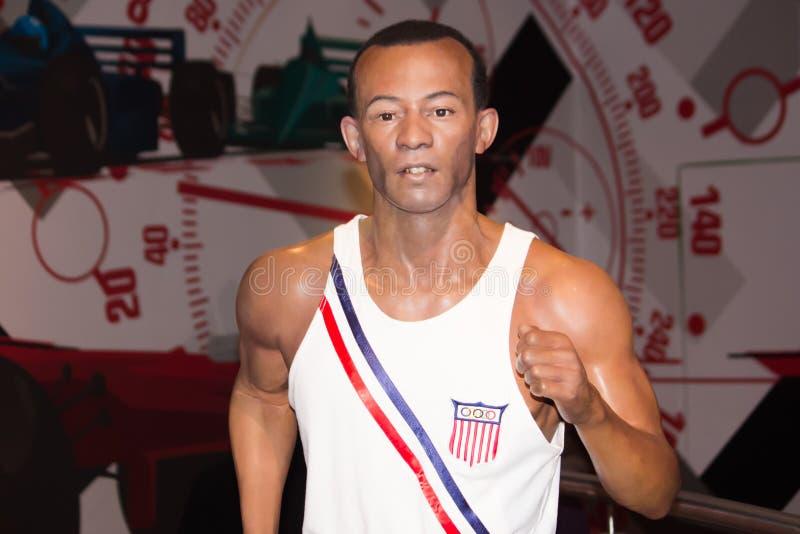 Jesse Owens Wax Figure lizenzfreies stockfoto
