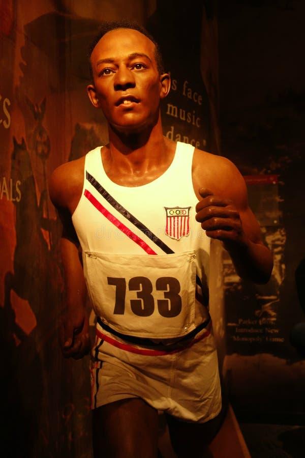 Jesse Owens wosku postać fotografia stock