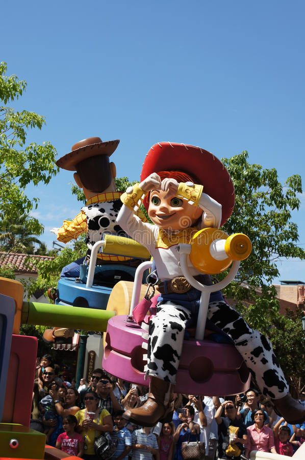 Jesse and Woody Parade at Disneyland stock images
