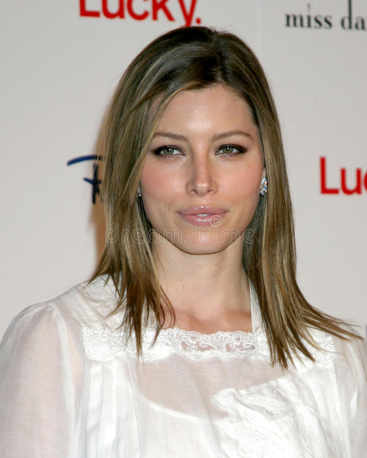 Jessica Biel. Lucky Magazine and Ron Herman Hosts Miss Davenport Trunk Show at Ron Herman Fred Segal Complex on Melrose Los Angeles, CA November 17, 2005 stock photos