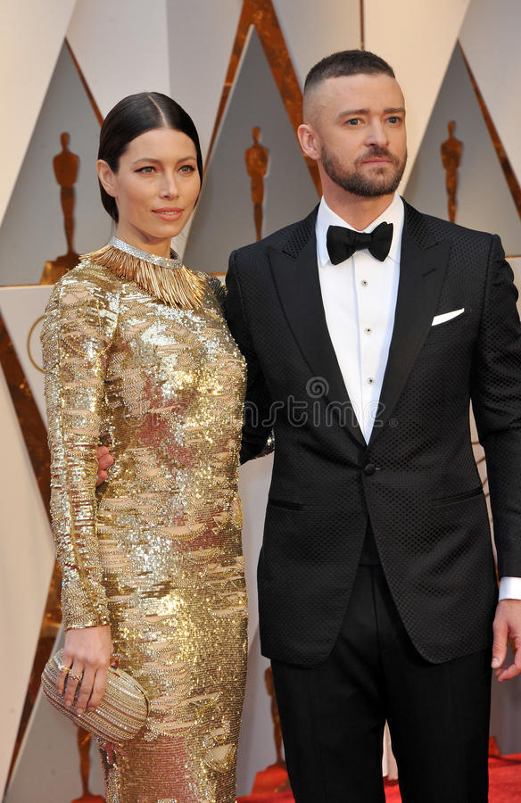 Jessica Biel e Justin Timberlake fotos de stock
