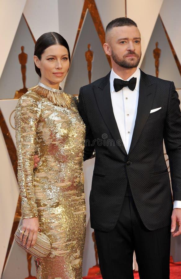 Jessica Biel et Justin Timberlake photos stock