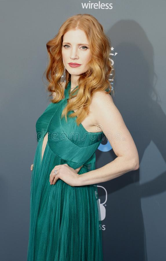 Jessica Chastain photographie stock