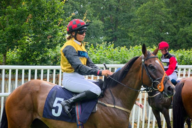 Jessica Cooley Apprentice-Pferderennen Jockey stockfotografie