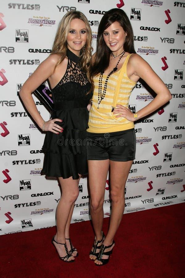 Jessica Kinni e Zoe Myers al partito di Premiere di debutto del video musicale di J.Smith. Les Deux, Hollywood, CA 02-25-09 immagini stock libere da diritti