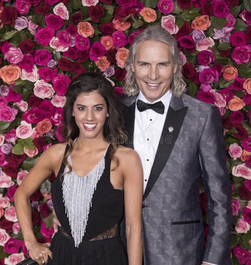 Jessica Rose e Cory Brunish em Tony Awards 2018 fotos de stock royalty free