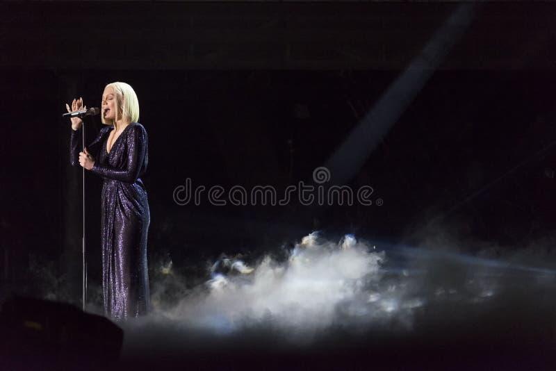 Jessie J in concert stock photos