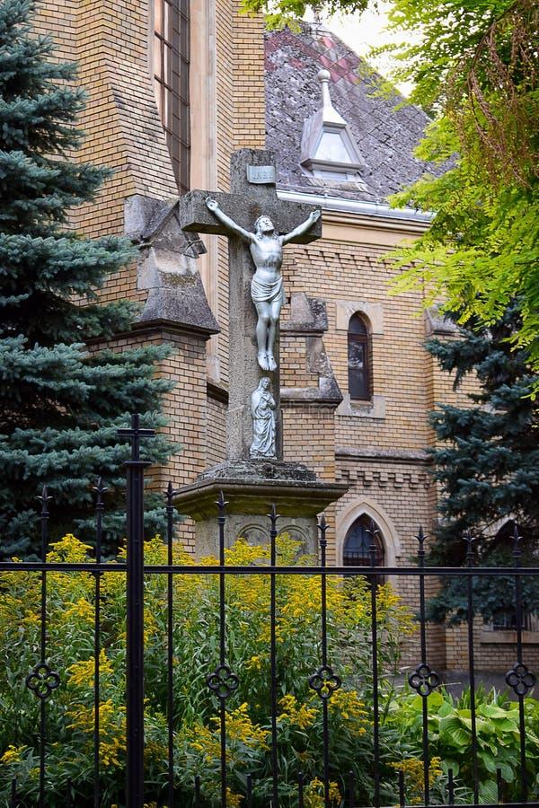 Jessus sur la croix, Backa Topola, Serbie photo stock