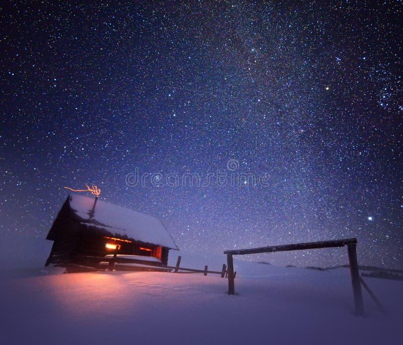 jest święta bożego daru Santa Claus nocy ilustracyjnego wektora fotografia royalty free