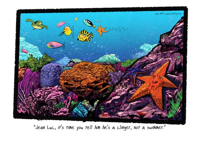Jest Clinger nie pływaczka ilustracja wektor