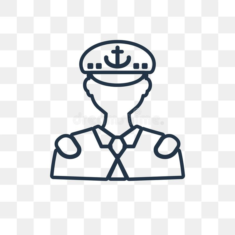Jest kapitanem wektorową ikonę odizolowywającą na przejrzystym tle, liniowy C royalty ilustracja