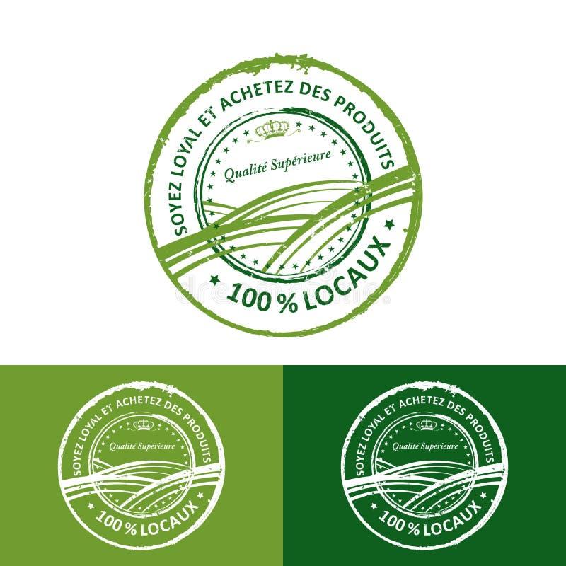 Jest lojalnego i zakupu miejscowym Premii ilości francuza znaczek ilustracji