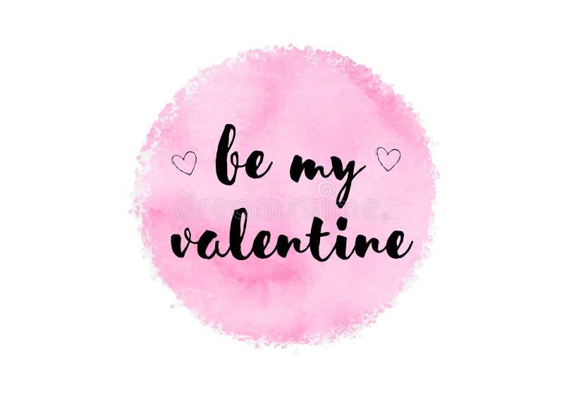 Jest mój valentine ślicznym akwarelą zdjęcie stock