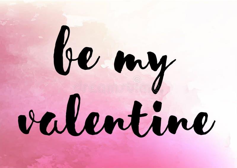 Jest mój valentine ślicznym akwarelą zdjęcia stock