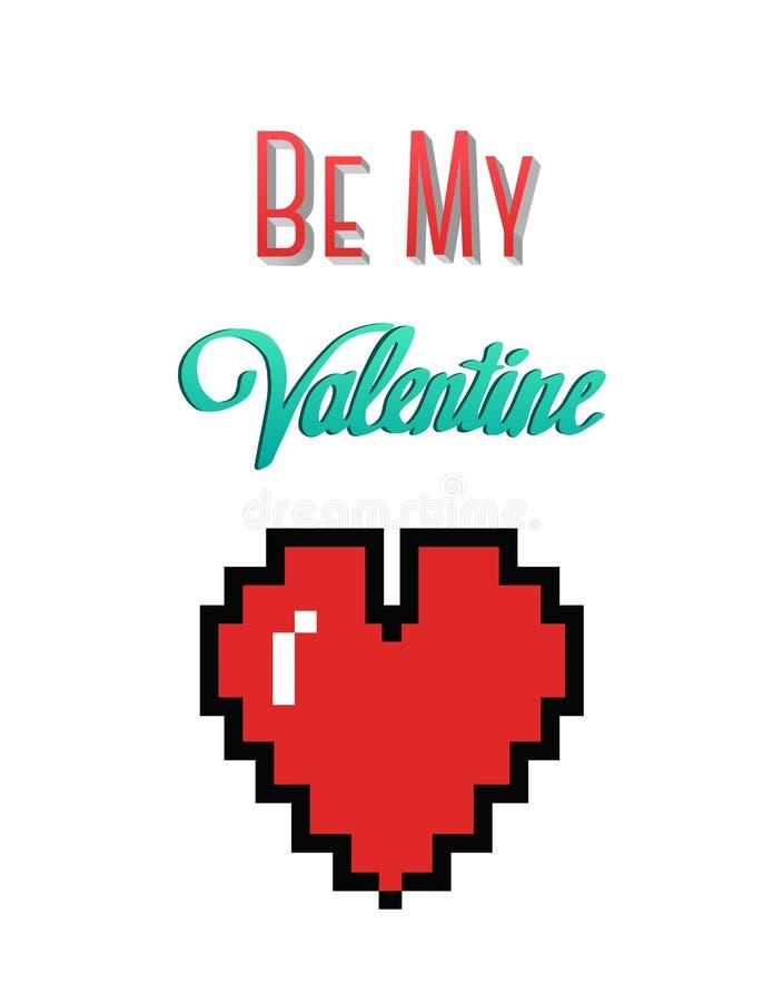 Jest mój valentine wektorem z sercem ilustracja wektor