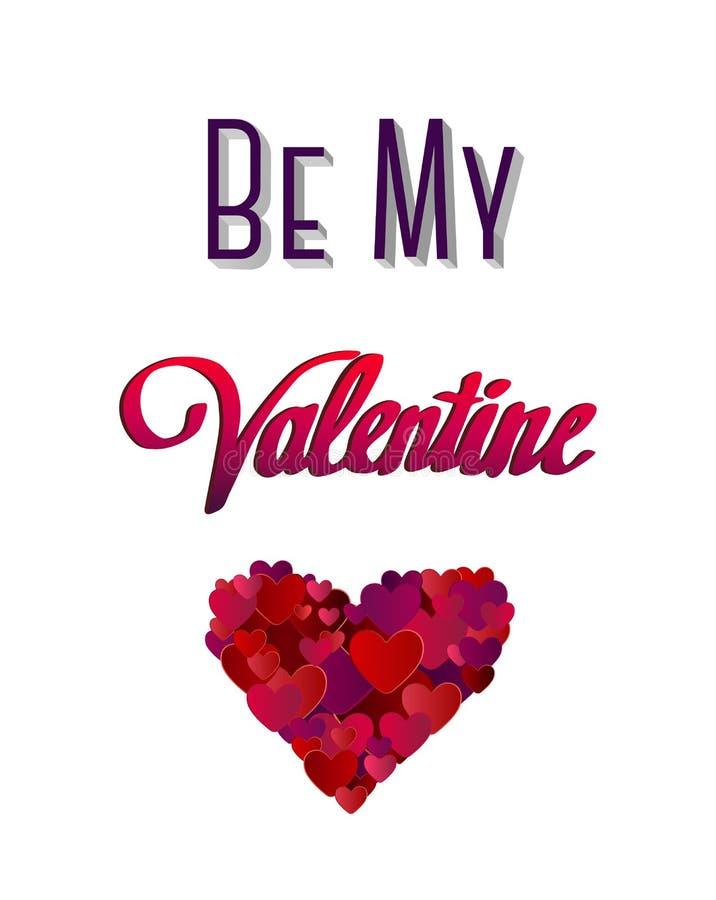Jest mój valentine wektorem z sercem ilustracji