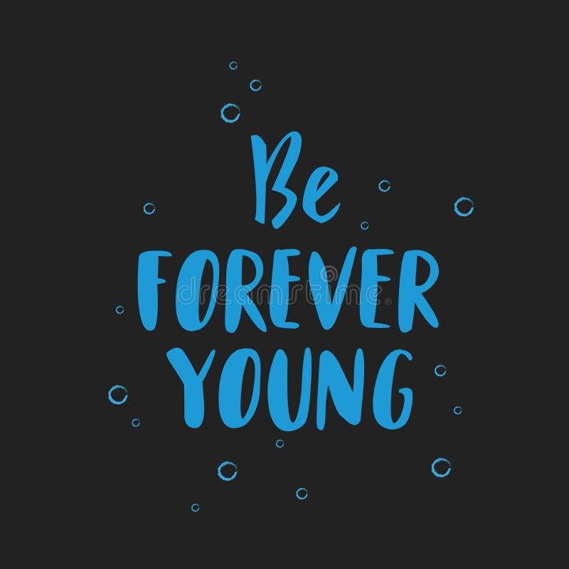 Jest Na zawsze potomstwa literowania wycena ręka rysującym inspiracyjnym motywacyjnym pocztówką, koszulka projekta druk, logo z b ilustracja wektor