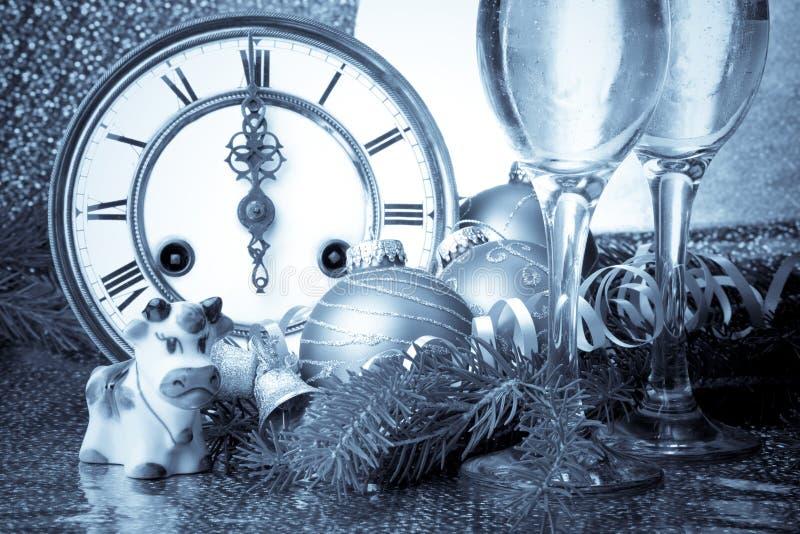 jest nowy rok, ozdoby obrazy stock