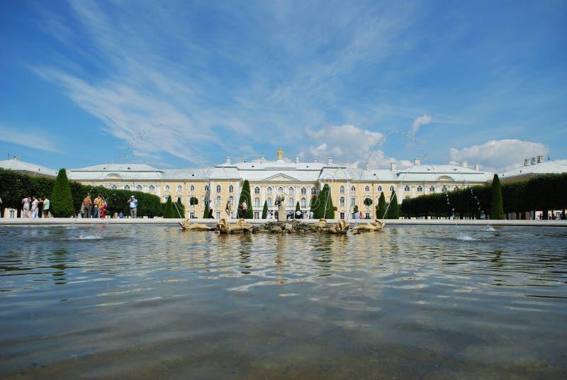 jest petergof pałacu. zdjęcia royalty free