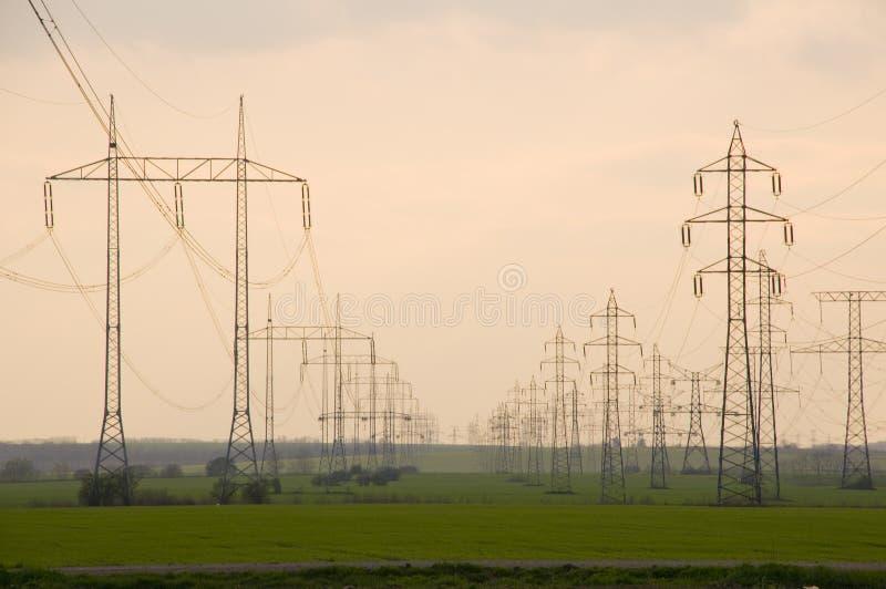 jest pilon energii elektrycznej fotografia royalty free