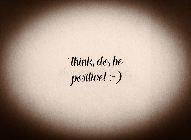 Jest pozytywnym zwrotem pisać w czarny i biały zdjęcia stock