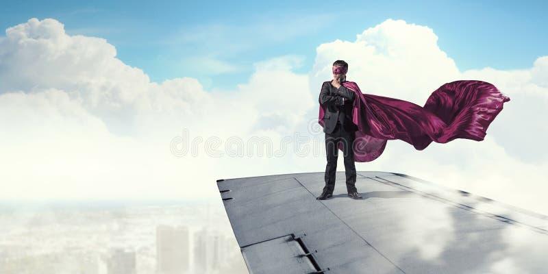 Jest super bohaterem Mieszani środki zdjęcia royalty free