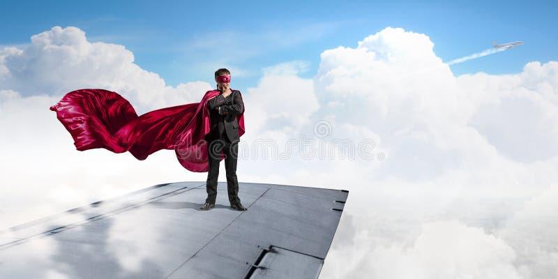 Jest super bohaterem Mieszani środki obraz royalty free