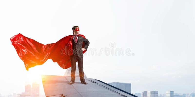 Jest super bohaterem Mieszani środki obrazy stock