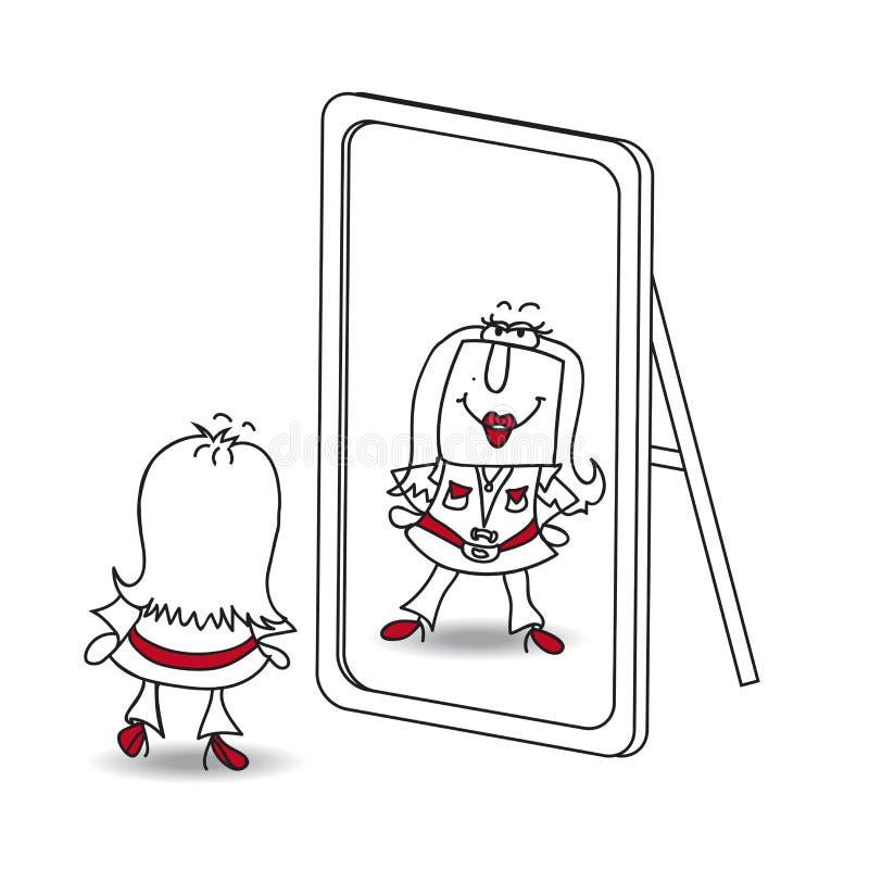 Jest yourself Karen royalty ilustracja