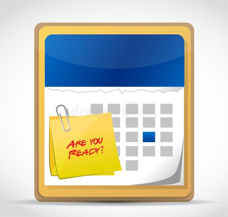 Jesteś przygotowywający kalendarzowy ilustracyjny projekt ty ilustracja wektor