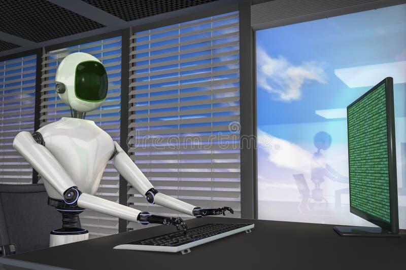 Jesteśmy robotami royalty ilustracja