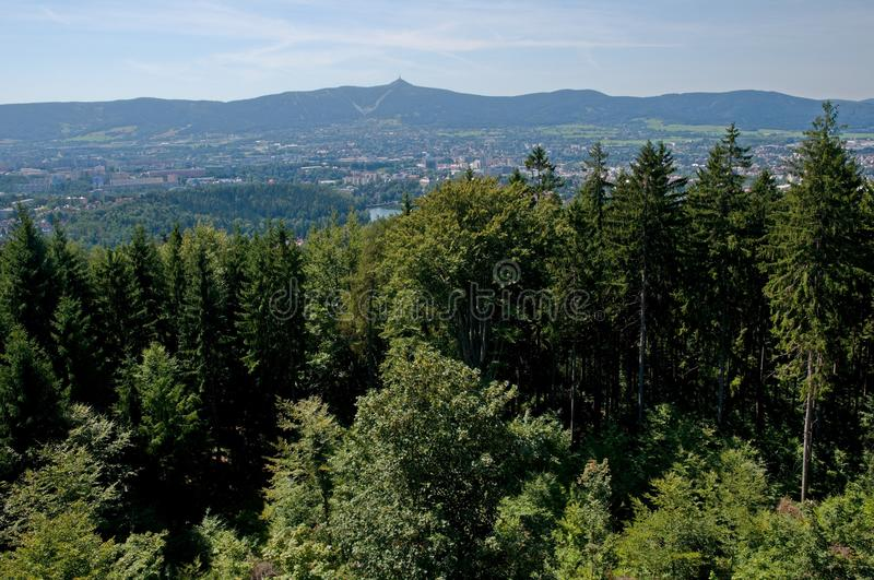 Jested and Liberec, Czech republic royalty free stock image