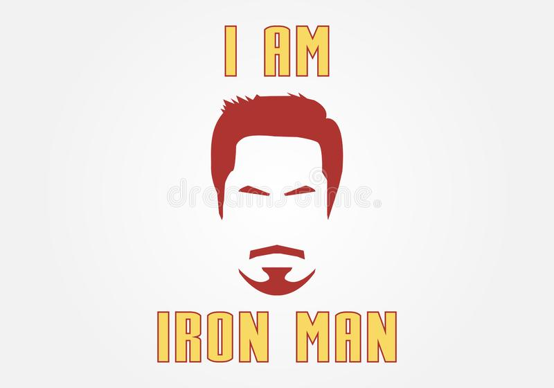 Jestem Iron Man ilustracja wektor
