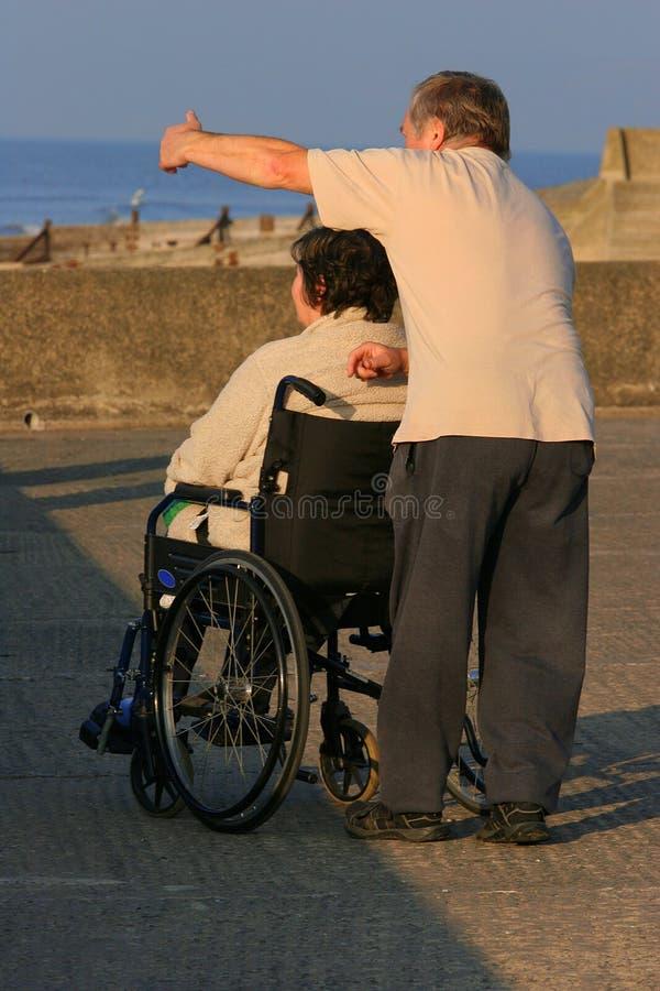 jestem niepełnosprawny dbać fotografia stock