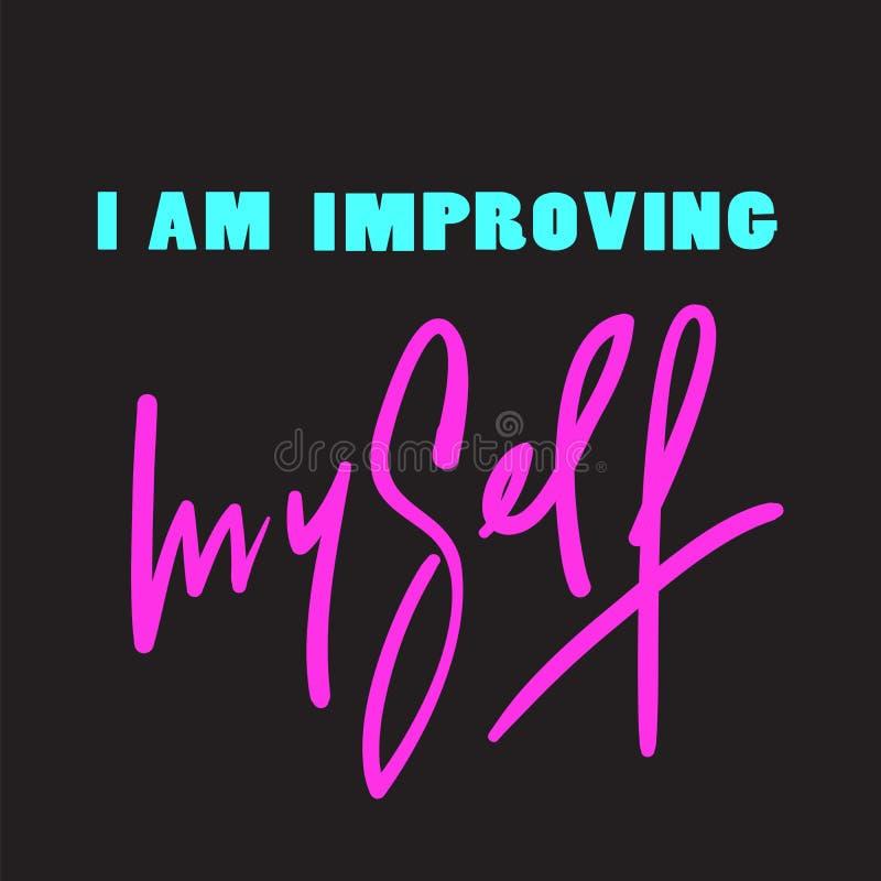Jestem udoskonalający - inspiruje i motywacyjna wycena ilustracji