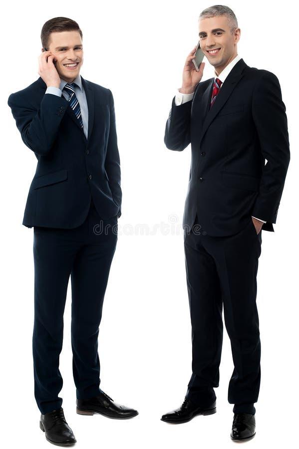 Jestem w ten sposób uradowany słuchać od ciebie! zdjęcia stock