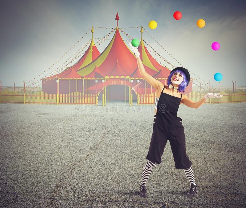 Jester κλόουν στοκ φωτογραφία με δικαίωμα ελεύθερης χρήσης