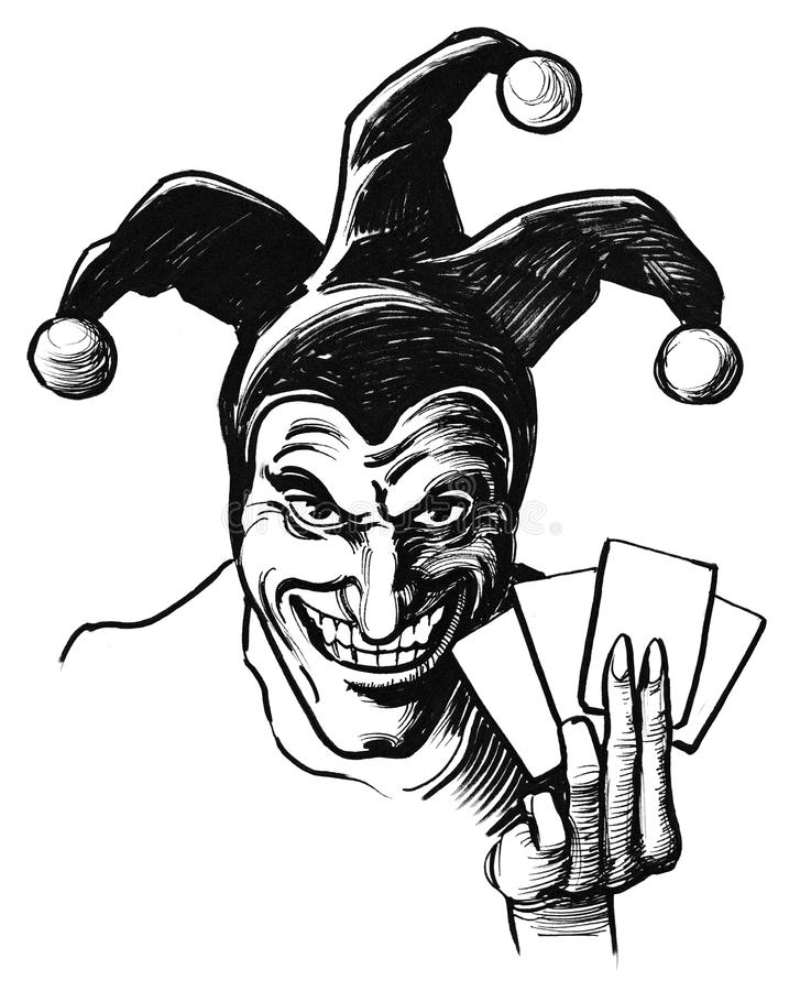 jester illustrazione di stock