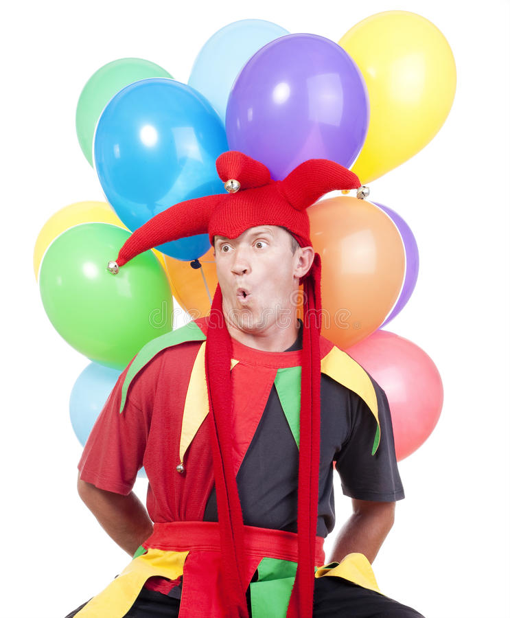 Download Jester with balloons stock illustration. Image of comedy - 25489380