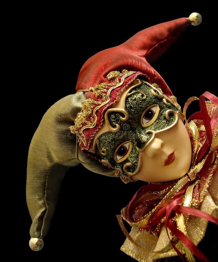Jester com máscara foto de stock royalty free