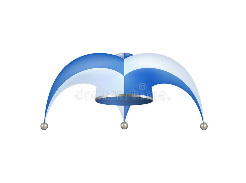 Jester hat in white and blue design vector illustration