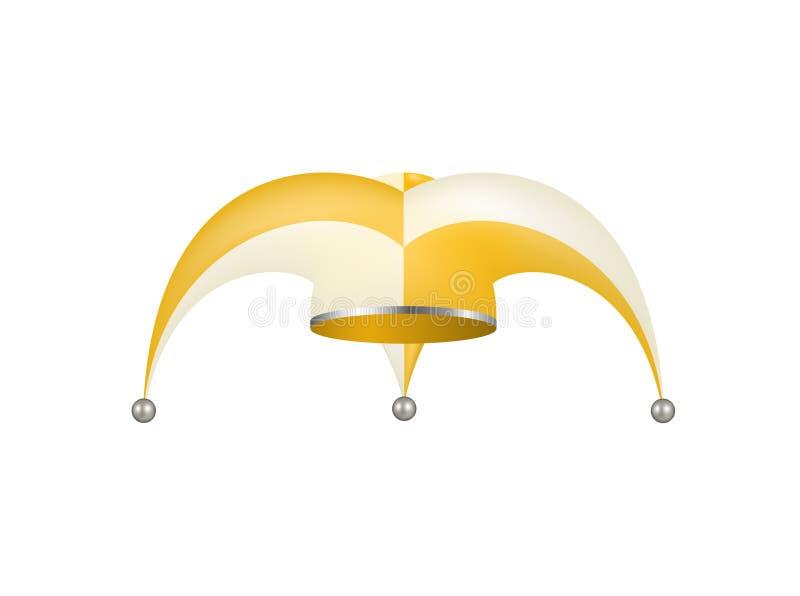 Jester hat in white and orange design royalty free illustration