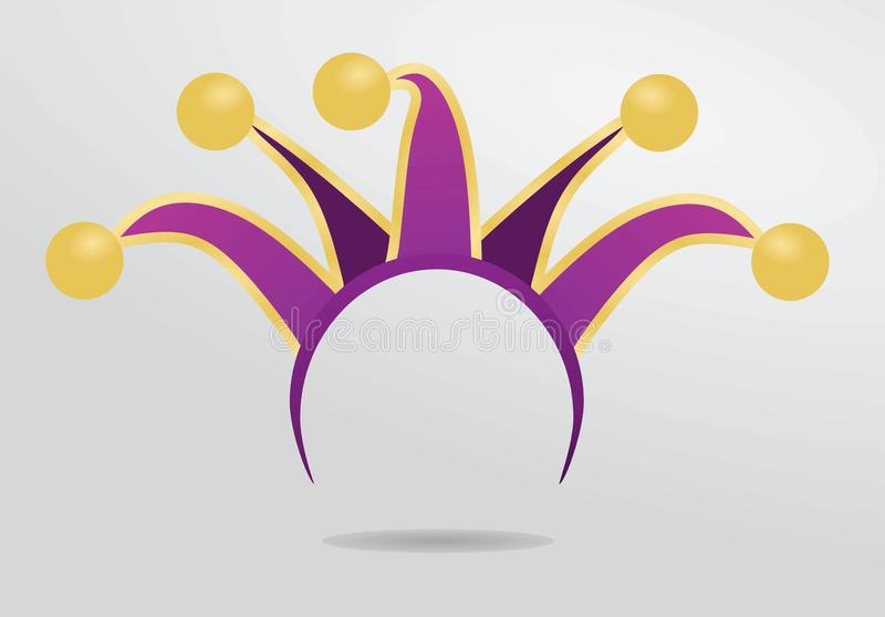 Jester headband μάσκα διανυσματική απεικόνιση