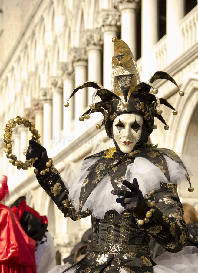 Jester Venetian fotos de stock royalty free