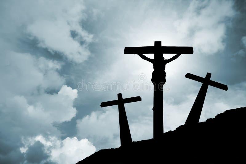 Jesucristo crucificado foto de archivo libre de regalías